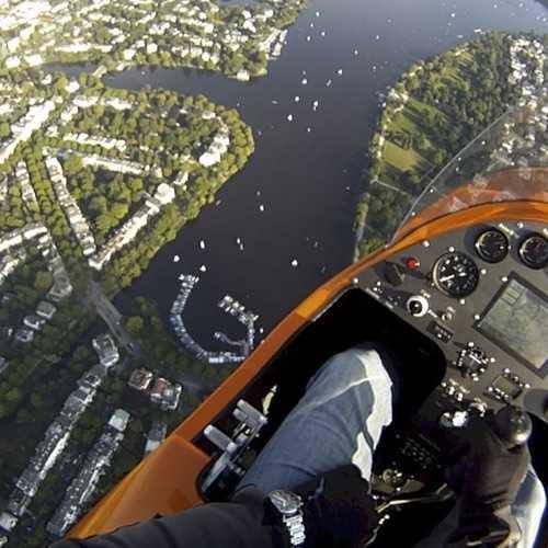 Mediapaket Gyrocopter über Hamburg Alster